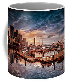 Seattle Marinescape. Coffee Mug by Eti Reid