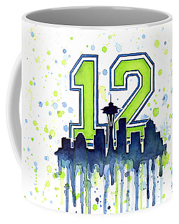 Seattle Seahawks 12th Man Art Coffee Mug