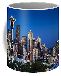 Coffee Mug featuring the photograph Seattle Skyline Panoramic by Brian Jannsen