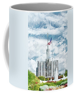 Coffee Mug featuring the painting Seattle Temple 1 by Greg Collins