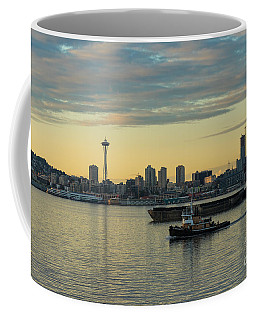 Seattles Working Harbor Coffee Mug by Mike Reid