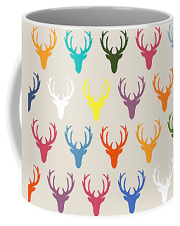 Seaview Simple Deer Heads Coffee Mug