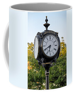 Secaucus Clock Marras Drugs Coffee Mug by Susan Candelario
