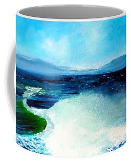 Secret Beach Surf Art Coffee Mug
