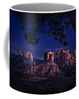 Coffee Mug featuring the photograph Sedona Cathedral Rock Post Sunset Glow by Mary Jo Allen
