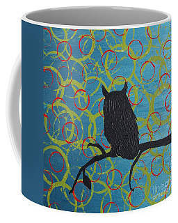 Coffee Mug featuring the painting Seer by Jacqueline McReynolds