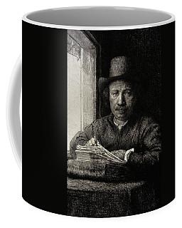 Self-portrait Etching At A Window Coffee Mug
