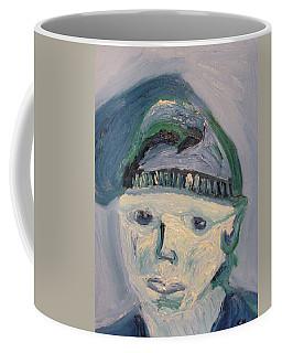Self Portrait In Blue And Green Coffee Mug