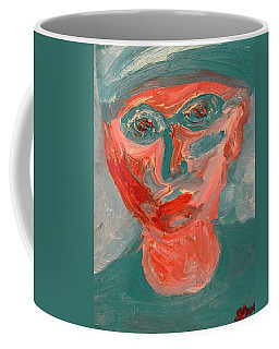 Self Portrait In Turquoise And Rose Coffee Mug