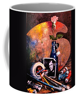 Self Portrait With Palette Coffee Mug