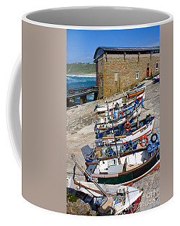 Sennen Cove Fishing Fleet Coffee Mug by Terri Waters