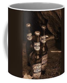 Coffee Mug featuring the photograph Sepia Bottles by Rachel Mirror