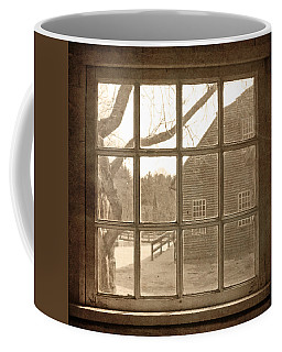 Sepia Colonial Scene Through Antique Window Coffee Mug