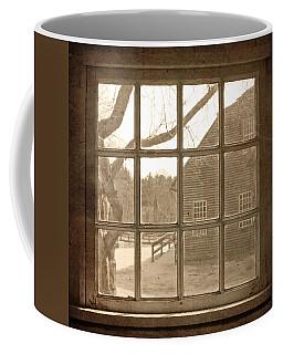Sepia Colonial Scene Through Antique Window Coffee Mug by Brooke T Ryan
