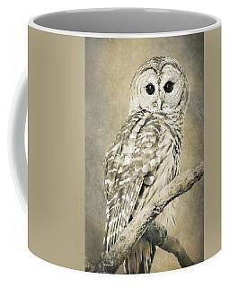 Sepia Owl Coffee Mug