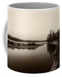 Sepia River Coffee Mug