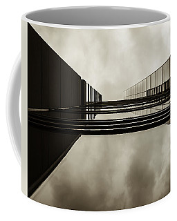Coffee Mug featuring the photograph Sepia Skyscraper Series - Infinity by Steven Milner