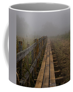September Mist Hdr - Foggy Day Over Walk Way Coffee Mug