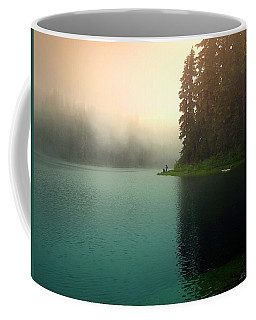 Serenity On Blue Lake Foggy Afternoon Coffee Mug