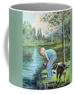 Seth And Spiky Fishing Coffee Mug