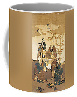 Seven Wise Men In The Bamboo Forest Painted Silk Coffee Mug