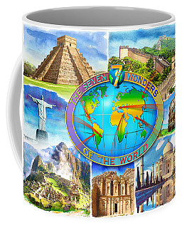 Seven Wonders Of The World Coffee Mug