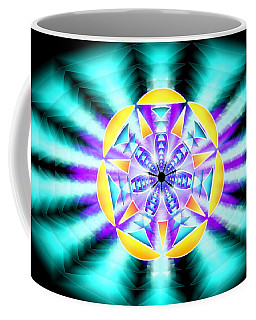 Coffee Mug featuring the drawing Seventh Ray Of Consciousness by Derek Gedney