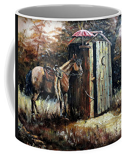 Shade For My Horse Coffee Mug by Lee Piper