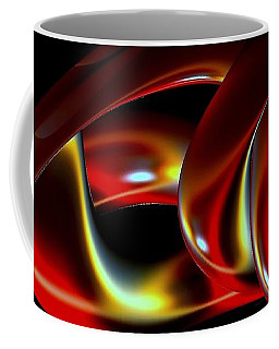 Coffee Mug featuring the digital art Shades Of Red by Greg Moores