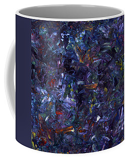 Coffee Mug featuring the painting Shadow Blue Square by James W Johnson