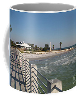 Shadow On The Pier Coffee Mug by Christiane Schulze Art And Photography