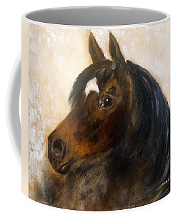 Coffee Mug featuring the painting Shadow by Barbie Batson