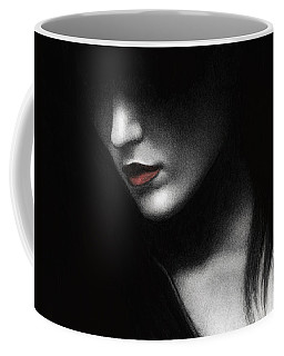 Coffee Mug featuring the painting Shadowed In My Mind by Pat Erickson