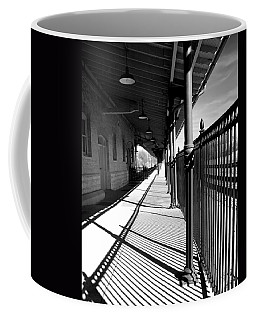 Coffee Mug featuring the photograph Shadows At The Station by Denise Beverly