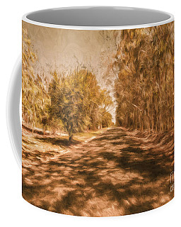 Shadows On Autumn Lane Coffee Mug