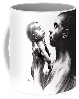 Coffee Mug featuring the drawing Shadowtwister Reflections  by Paul Davenport