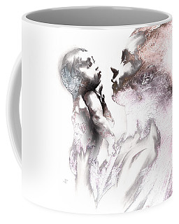 Coffee Mug featuring the drawing Shadowtwister Reflections Textured by Paul Davenport