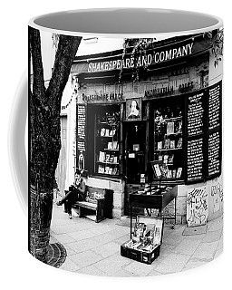 Shakespeare And Company Boookstore In Paris France Coffee Mug by Richard Rosenshein