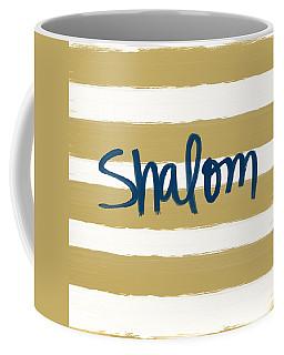 Shalom- Blue With Gold Coffee Mug
