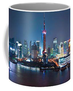 Shanghai Panorama Coffee Mug by Delphimages Photo Creations