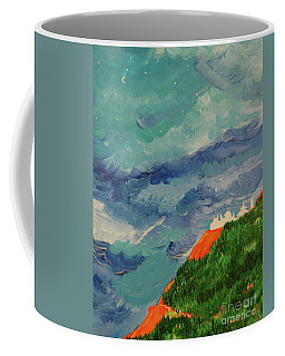 Coffee Mug featuring the painting Shangri-la by First Star Art