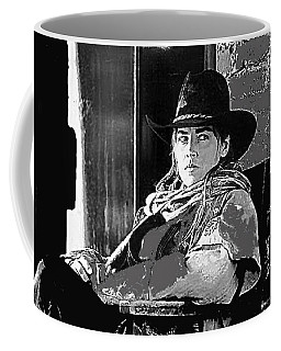 Coffee Mug featuring the photograph Sharon Stone The Quick And The Dead Publicity Photo by David Lee Guss