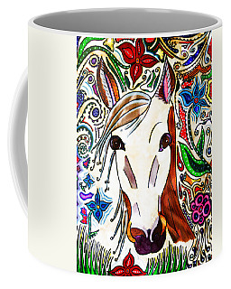 She Grazes Where Flowers Grow - Horse Coffee Mug