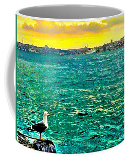 Coffee Mug featuring the photograph She Is Late Again  by Zafer Gurel