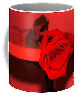 Coffee Mug featuring the photograph She Likes Red. Red Rose by Oksana Semenchenko