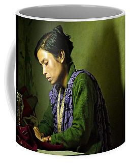 She Sews Into The Night Coffee Mug