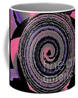 Coffee Mug featuring the digital art She Wirls by Catherine Lott
