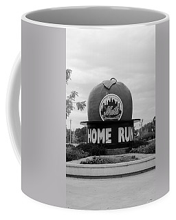 Shea Stadium Home Run Apple In Black And White Coffee Mug by Rob Hans