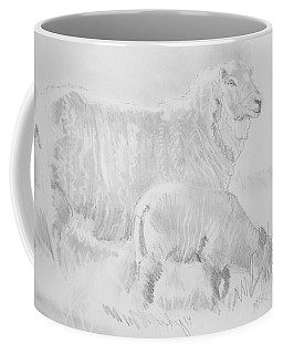 Sheep Lamb Pencil Drawing Coffee Mug