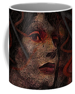 Shell Cyborg Portrait Coffee Mug